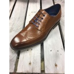 Justin Reece Tan/Navy Formal shoe