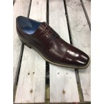 Justin Reece Mens Wine Formal Shoe