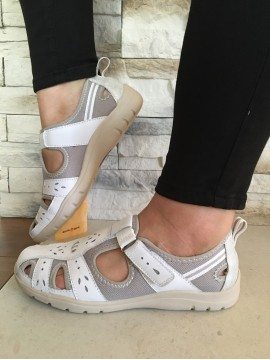 EART SRIRIT LEATHER WHITE COMFORT SHOE