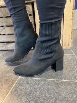 MARCO TOZZI BLACK SOCK BOOT