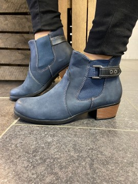 EARTH SPIRIT NAVY LEATHER BOOT
