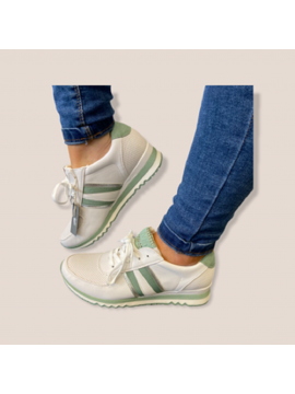 MARCO TOZZI WHITE AND MINT GREEN TRAINER