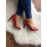 MARCO TOZZI LADIES RED PATENT COURT SHOE