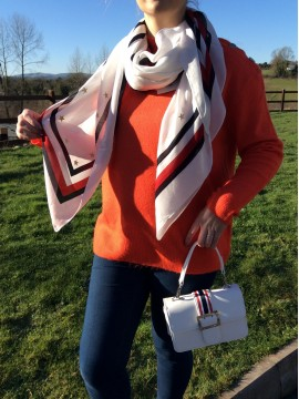 LADIES TOMMY HILFIGER WHITE SCARF